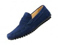 e725d53c0fa449 Чоловічі замшеві мокасини QIMIAN Suede leather beanie shoes Blue 43 size